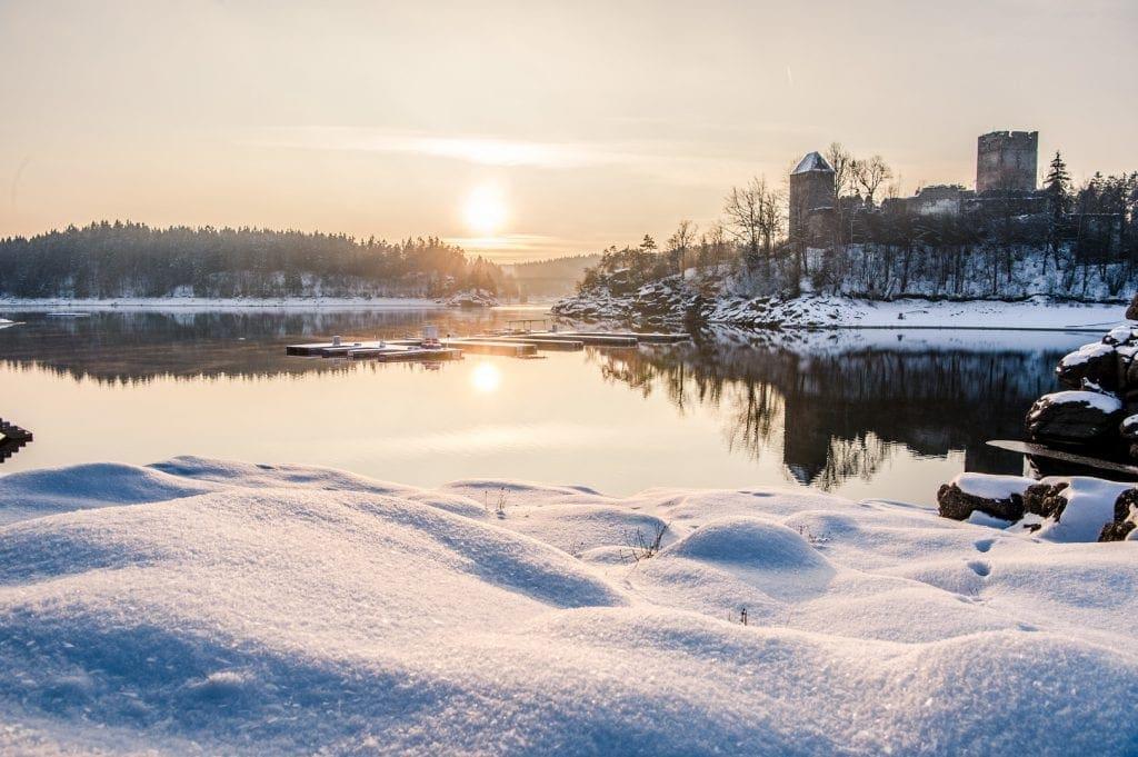 Winter am Stausee Ottenstein